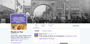Follow @royalsontour for history and book news!